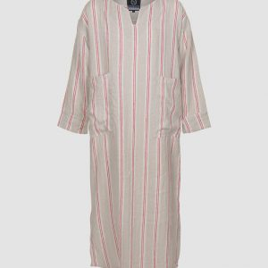 Red Kaftan Linen robe